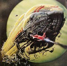 Space Fantasy, Sci Fi Fantasy, Sci Fi Spaceships, 70s Sci Fi Art, Spaceship Art, Science Fiction Art, Fantasy Inspiration, Retro Futurism, Cyberpunk