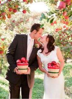 Red and Caramel Wedding - Bride and Groom