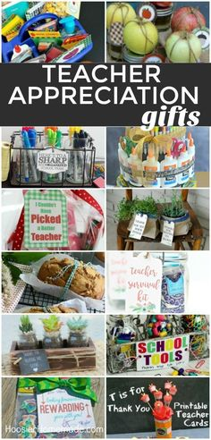 TEACHER APPRECIATION GIFTS -- Show your teacher how much you care! Make them one of these SIMPLE gifts! From supplies - to food gifts - to something personal! There is something here for every teacher! Gourmet Gift Baskets, Gourmet Gifts, Food Gifts, Diy Gifts, Homemade Gifts, Survival Kit For Teachers, Teacher Survival, Teacher Cards, Teacher Stuff