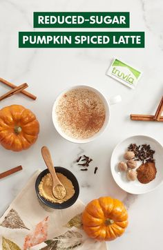 Make fall sweeter with Truvia, a calorie-free sweetener great for fall drinks like DIY pumpkin spice lattes.