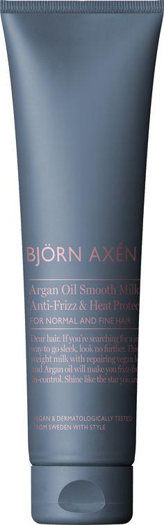 Argan Oil Smooth Milk Styling Creme 150 ml - Björn Axén - KICKS Argan Oil, Keratin, Fine Hair, Drink Sleeves, Whiskey Bottle, Milk, Smooth, Makeup, How To Make