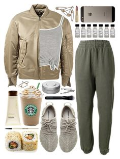 """Untitled #1147"" by noviii ❤ liked on Polyvore featuring adidas Originals, Boohoo, Ahava, Hermès, Givenchy, BOBBY, Bobbi Brown Cosmetics and H&M"