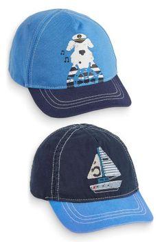 Купить Комплект из двух кепок темно-синего и голубого цветов (3-6 лет) - Покупайте прямо сейчас на сайте Next: Россия
