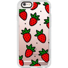 Transparent Cute Red Green Strawberry Cartoon Pattern - iPhone 6s Case,iPhone 6…