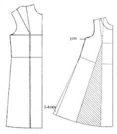 Bata de maternidad con traslados de pinzas - El costurero de Stella