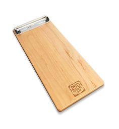 Wood Menu Plank Clipboard with Laser Etched Logo