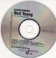 Neil Young Are You Passionate / 2002 Reprise Records Advance Promo CD / RARE NM