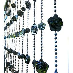 Gothic Black Roses Beaded Curtain ❤ liked on Polyvore featuring home, home…