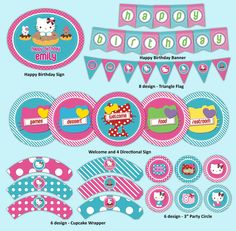 Hello Kitty Printable Party Decoration Kit