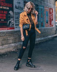 Lian Galliard - calça-preta-jaqueta-caramelo - calça-preta - inverno - street style