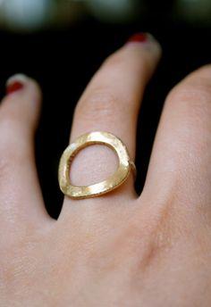 Brass and Sterling Silver Infinity ring brass por hannahnaomi