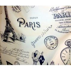 Tkanina  Paris Vintage Seria Miasta Świata