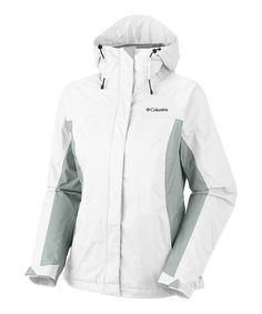 This White  Niagra Arcadia Rain Jacket - Women  Plus by Columbia is perfect! #zulilyfinds
