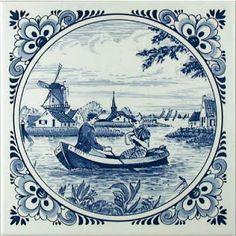 Getting to the Amsterdam Delft Tiles, Blue Tiles, Blue And White China, Blue China, China Painting, Blue Plates, Decoupage Paper, Tile Art, White Decor