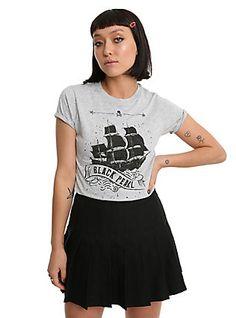 Pirates Of the Caribbean: Dead Men Tell No Tales Black Pearl Girls T-Shirt, GREY