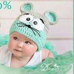 13 Modelos de gorros tejidos especiales para bebés (4)  fc5738a415a