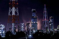 堺泉北臨海工業地帯の夜景撮影その3