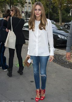 Olivia Palermo attends Veronique Leroy's Spring-Summer 2014 Ready-To-Wear collection show on Saturday
