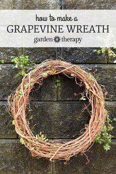 Learn how to use bentwood wrapping techniques to make a grapevine wreath for indoor or outdoor decor.