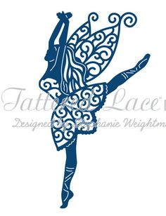 Tattered Lace Die - Graceful Fairy  Detailed and delicate, Tattered Lace Dies are the most intricate dies available. This topper die gives you the