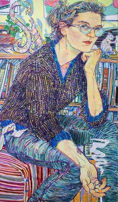 Hope Gangloff, a Beloved New York Portraitist, Heads West to Stanford's Cantor Arts Center Painting People, Figure Painting, Painting Art, Portraits, Portrait Art, Hope Gangloff, Bad Drawings, Figurative Kunst, Illustration Art