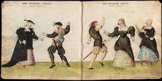 Códice de trajes, Danza spagnola, XVI sec.