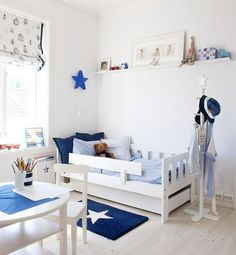 7 habitaciones y dormitorios de bebé en azul