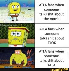 ATLA fans when someone talks shit about the movie ATLA fans when someone talks shit about TLOK ATLA fans when someone talks shit about ATLA - iFunny :) Avatar The Last Airbender Funny, The Last Avatar, Avatar Funny, Avatar Airbender, Avatar Aang, Atla Memes, Avatar Series, Team Avatar, Fandom Memes