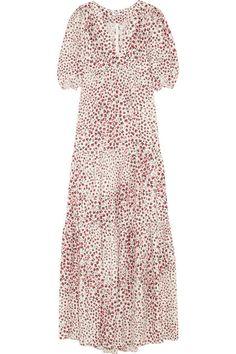 Vilshenko Yvette printed silk-crepe maxi dress #Vilshenko