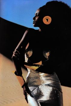 Iman photographed by Thierry Mugler