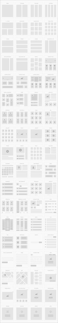 UI Tiles: Wireframes and Flowcharts Kit - GraphicsFuel Graphisches Design, Site Design, Book Design, Layout Design, Webdesign Layouts, Responsive Layout, Minimal Web Design, Book Layout, Web Layout