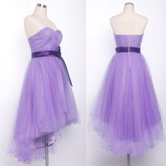 2015 Fashion Party Dress Red Purple Long Lace Sweetheart Bow Sash Hi-low Sexy Women Prom Dresses