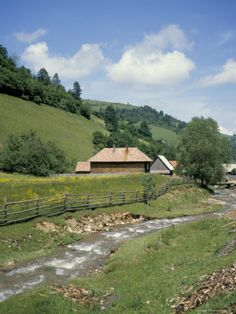 Seitin Village, Apuseni Mountains, Carpathian Mountains, Transylvania, Romania