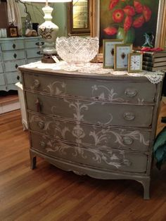 Cottage Painted Hand Painted Design Shabby Chic by TessHome, $895.00