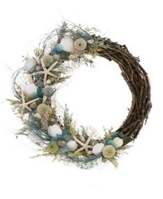 By the Seashore wreath - an idea to use the many seashells collected on sunset walks :)