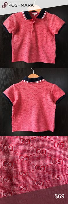 GUCCI baby red polo shirt Sz2 HARD TO FIND! Excellent condition Gucci Shirts & Tops Polos