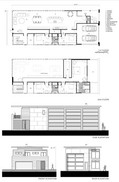 Floor plans and elevation from that Logical Homes Catalan 3210 rendering