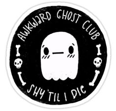 Join the awkward ghost club! A club for people that are shy, awkward, and anxious! With a shy little awkward ghost as the mascot. • Also buy this artwork on stickers, apparel, phone cases, and more.