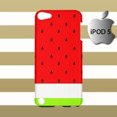 Watermelon Art Fruit Print iPod 5 5g 5th Touch Case Cover Hardshell