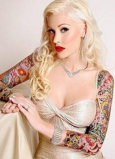 Colourful arm / sleeve tattoo