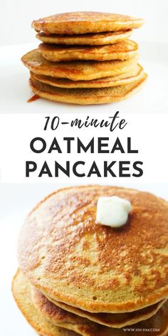 Oatmeal Pancakes – no flour, easy and healthy pancakes you can make for breakfast tomorrow! Oatmeal Pancakes – no flour, easy and healthy pancakes you can make for breakfast tomorrow! Clean Eating Breakfast, Healthy Breakfast Recipes, Clean Eating Snacks, Healthy Recipes, Easy Recipes, Healthy Breakfasts, Banana Recipes Clean Eating, Easy Breakfast Ideas, Clean Eating Oatmeal