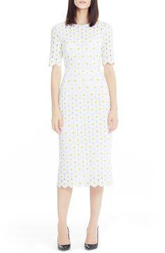 Dolce&Gabbana Daisy Macramé Lace Sheath Dress