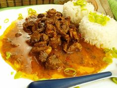 Korn, Curry, Beef, Ethnic Recipes, Meat, Curries, Steak