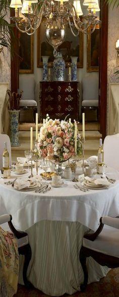 ♔luxury table setting #Luxurydotcom