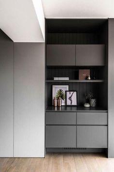 Bar unit Apartment Interior, Apartment Design, Kitchen Interior, Interior Design Living Room, Modern Interior, Living Room Designs, Built In Furniture, Furniture Design, Shelving Design