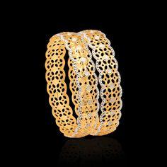 CNC Bangles: Gold CNC Bangle Design Online - Zar Jewels