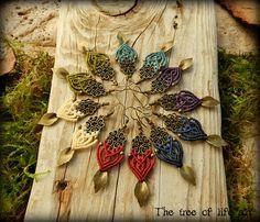 Macrame boho earrings/Macrame jewelry/Elven earrings/Tribal earrings/Micromacrame/Bohemian jewelry/Forest jewelry/Handmade/Thetreeoflifeart