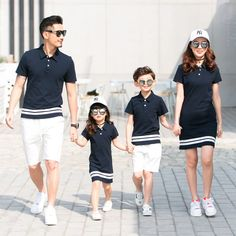 Family Matching Outfits Twinning Mother and Daughter Clothes Mom Daughter Dresses Daddy Girl Father Son Shirt +shorts Mother Son Matching Outfits, Matching Couple Outfits, Matching Clothes, Mother Daughter Fashion, Mom Daughter, Mother And Daughter Clothes, Daddys Girl, Father And Son, Baby Boy Outfits
