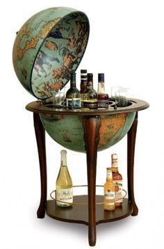 Stunning Globe Shaped Liquor Cabinet