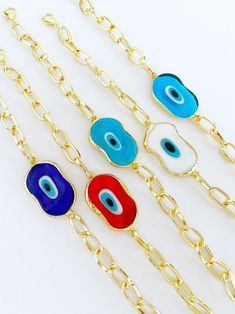 Arm Candy Bracelets, Handmade Bracelets, Eye Protection, Evil Eye Bracelet, Adjustable Bracelet, Hamsa, Gold Chains, Jewelry Collection, Turquoise Necklace